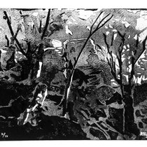 La forêt des fées - Linogravure