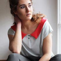 Bluse Flotteur mit Claudine-Kragen