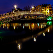 Half Penny Bridge über den River Liffey
