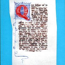 Copia en pergamino del Romance del Prisionero
