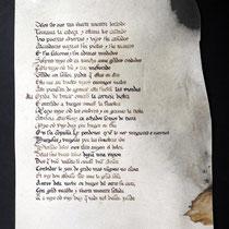 Copia en pergamino de la primera página del Cantar del Cid