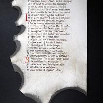 Copia en pergamino de la primera página del Cantar de Roldán