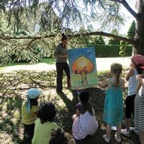 Atelier Parc Jane Limousin à Châteauneuf-la-Forêt : pour les plus petits, présentation de l'écosystème de l'arbre avec les animaux y vivant