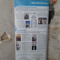 Panneau de signalétique patrimoniale - Eglise de Rempnat