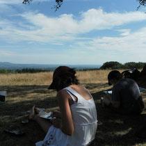 Balade Zoom paysage au Mont Gargan : dessin du paysage
