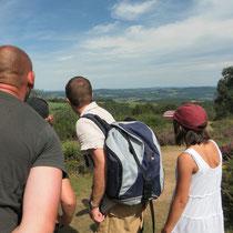 Balade Zoom paysage au Mont Gargan : lecture du paysage depuis ce site à la vue panoramique