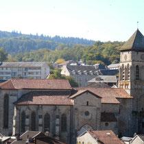 Visite de la collégiale d'Eymoutiers, bel exemple pédagogique, à la fois romane et gothique