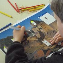 Atelier château : château à compléter par le dessin pour les moyens