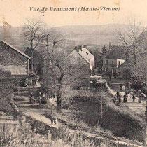 Au début du XXe siècle, la forêt n'occupait pas encore systématiquement les hauteurs de la montagne limousine - Beaumont-du-Lac - Photo Paul COLMAR