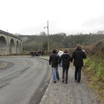 Jeu de piste Sur les traces de Paroutaud et du chemin de fer à Saint-Léonard-de-Noblat : direction le viaduc ferroviaire...