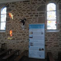 Panneau de signalétique patrimoniale - Eglise de Saint-Gilles-les-Forêts