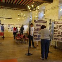 """Inauguration de l'exposition """"14-18, Poussières de guerre"""" à Saint-Léonard-de-Noblat - été 2014."""