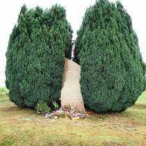 Stèle commémorative d'un fait de Résistance - entre Forêt Haute et le bourg - Saint-Gilles-les-Forêts
