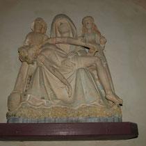 Vierge  de Pitié (fin XVe siècle, cl. MH) - Eglise de Moissannes