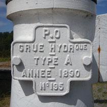 Détail de la grue hydraulique - Gare de Saint-Léonard-de-Noblat
