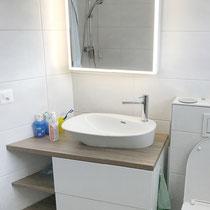 Wasserhahnen mit Waschbecken – Badumbau in Riehen BS