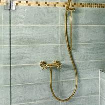 Dusche vergoldet – Badumbau in Reinach BL