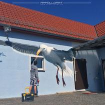 Malerei einer Fischerhütte in Angermünde