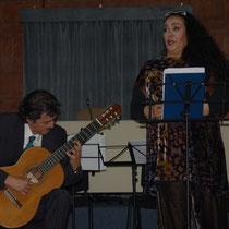 Ines Salazar e Senio Diaz in conceerto