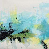 "Joana Bruessow, Dechirure, 32"" x 42"", ink on paper, 2011"