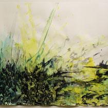 """© Joana Bruessow, Geaest - boughs, 26,5"""" x 38,5"""", ink on paper, 2012"""