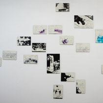 "©  Joana Bruessow, Dessins, 5""x8"", 11,5""x8"", ink and ballpen on paper, 2012"