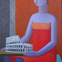 Domenico Lasala, L'amante italica, 2011, olio e acrilico su tela, 60x80 cm