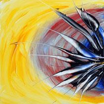 Giuseppe De Michele, Senza titolo, 2011, acrili su tavola, 30x30 cm
