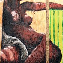 Angelo Petrucci, Africa, 2011, olio su tavola, 82x95 cm