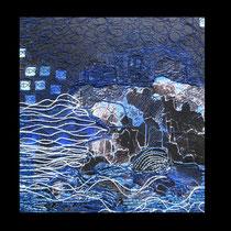 Zane Kokina, Blu, 2010, tencica mista, 20x20 cm