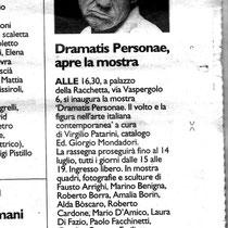 Articolo su Il Resto del Carlino, sabato 29 giugno 2013