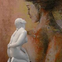 Johannes Genemans, Desiderio celestiale, 2008, marmo e resina, h 50 cm