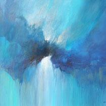 Marco Bozzini, L'oscura limpidezza dell'azzurro, 70x60 cm