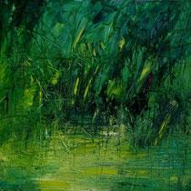 Ivo Stazio, Ristagno, 2011, olio su tela, 40x40 cm