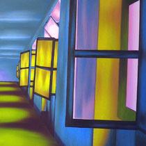 Paola Adornato, Il guardiano delle finestre, 2008, 90x70 cm