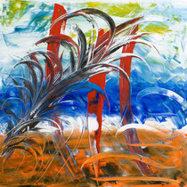 Giuseppe De Michele, Senza titolo, 2011, acrilici su tela, 80x80 cm