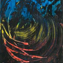 Giuseppe De Michele, Senza titolo, 2011, acrilici e smalti su tavola, 70x80 cm