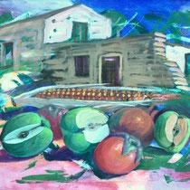 Francesco Maruotti, frutta e ruderi in capitanata, 2011, 50x70 cm