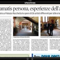 Articolo su La Nuova Ferrara, martedì 2 luglio 2013