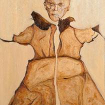 Marino Benigna, Putto 3000, 2011, olio su tela, 70x120 cm
