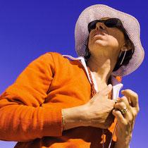 Fiorenzo Bordin, Signora con cappello ed occhiali, 201, fotografia digitale - stampa lambda