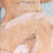 Angelo Petrucci, Senza titolo, 2011, olio su tela, 151x50 cm