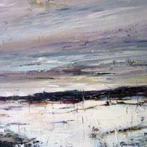 Ivo Stazio, Paesaggio invernale, 2011, olio su tela, 60x70 cm