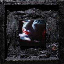 Luciano Lupoletti, Noesis, 2012, olio e tecnica mista su tela, 50x50 cm