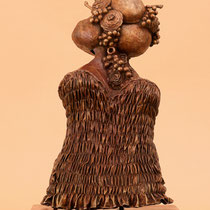 Johannes Genemans, Papaya. Sentimento primaverile, 2012, bronzo, h 50 cm