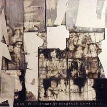 Simone Boscolo, Ricomposizione delle nozze di Emanuele Gudester 1922, 2009, tecnica mista (foto e acrilico su forex), 110x90 cm