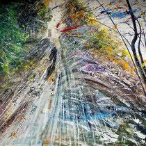 Sonia Zaffoni, Con il vento, 2010, acrilico su tavola, 75x85 cm