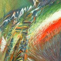 Michele Recluta, Tratturo italiano, 2011, tecnica mista su tela, 70x60 cm