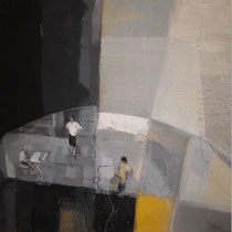 Zane Kokina, Giallo gioia, 2012, tecnica mista, 80x80 cm
