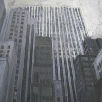 Lorenzo Curioni, Strutture urbane II, 2011, olio su tela, 75x85 cm